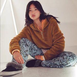 NWT Urban Outfitters Brown Teddy Hoodie Sweatshirt
